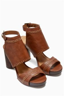 Cylinder Heel Sandals