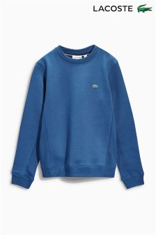 Blue Lacoste® Crew Neck Sweater