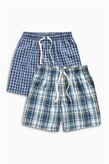 Navy Check Shorts Two Pack