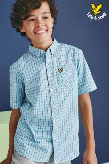 Blue Lyle & Scott Check Shirt