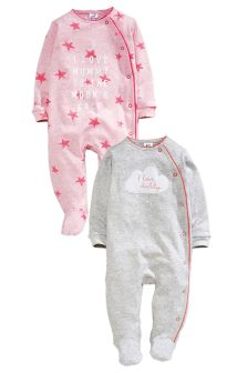 2 Pack Mum And Dad Sleepsuits (5LB-3yrs)