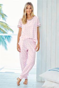Pink Printed Pyjamas