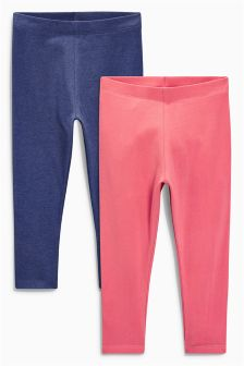 Coral/Navy Leggings Two Pack (3mths-6yrs)