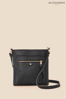 Blue Geometric Panelled Towel