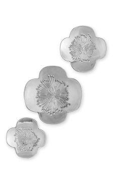 Set Of 3 Ceramic Flower Plaques