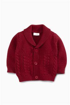 Red Collar Cardigan (0mths-2yrs)