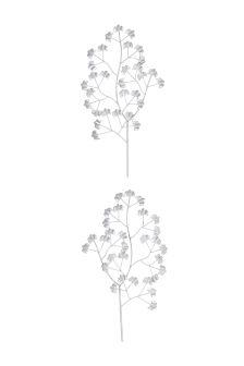 Set Of 2 Metal Floral Plaques