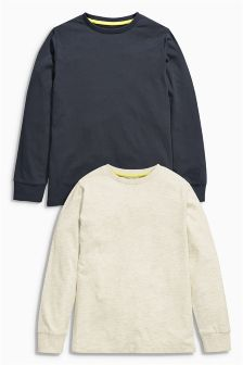 Ecru And Dark Grey Tops Two Pack (3-16mths)