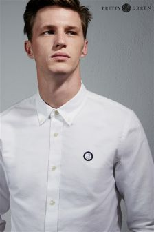 White Pretty Green Oxford Shirt