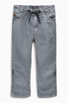 Linen Roll Leg Trousers (3-16yrs)