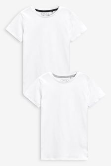Two Pack White T-Shirts (3-16yrs)