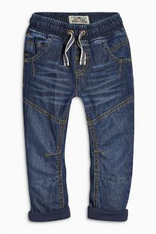 Lined Pull On Jeans (3mths-6yrs)