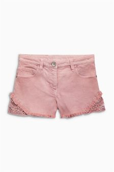 Pink Lace Insert Shorts (3-16yrs)
