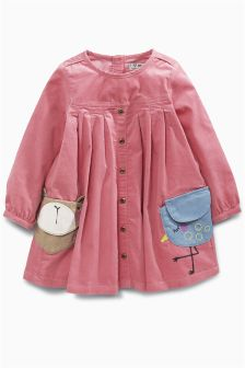 Pink Character Pocket Dress (3mths-6yrs)