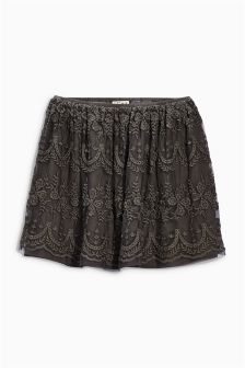 Grey Lace Skirt (3-16yrs)