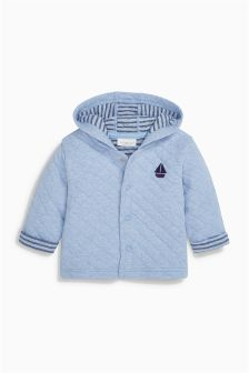 Blue Quilted Jacket (0mths-2yrs)