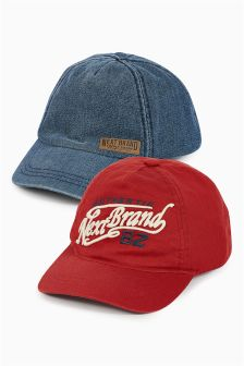 Red/Blue Caps Two Pack (Older Boys)