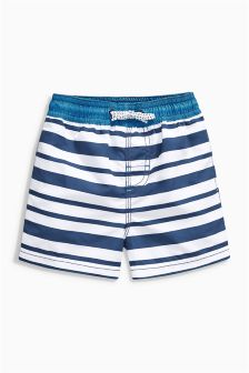 Blue/White Stripe Swim Shorts (3mths-6yrs)