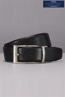Black/Brown Signature Italian Leather Reversible Belt
