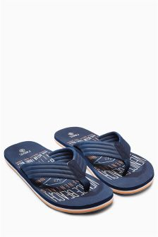 Navy Printed Flip Flop