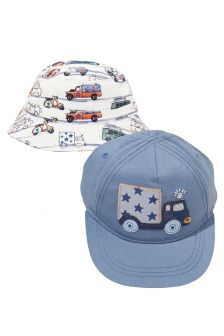 Multi Transport Cap And Fisherman's Hat Two Pack (Younger Boys)
