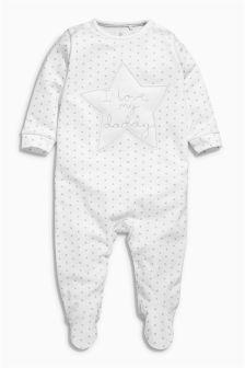 White Daddy Sleepsuit (0-18mths)