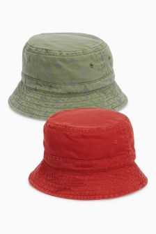 Rust/Khaki Fisherman's Hats Two Pack (Younger Boys)
