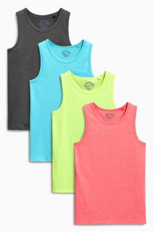 Multi Bright Vests Four Pack (3-16yrs)