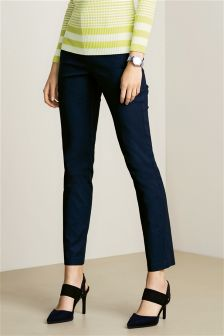 Textured Cotton Rich Trousers