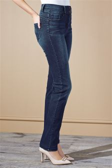 Dark Blue High Waist Enhancer Slim Jeans