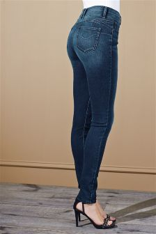 Dark Blue High Waist Enhancer Skinny Jeans