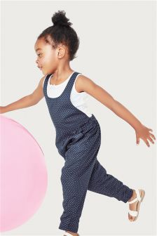 Navy Spot Playsuit (3mths-6yrs)