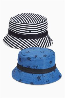 Blue Star And Stripe Fisherman's Hats Two Pack (Younger Boys)