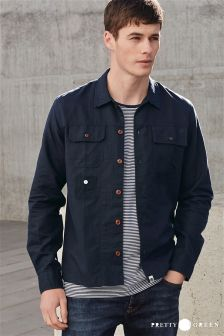 Navy Pretty Green Shacket