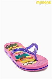Pink Minions Flip Flops (Older Girls)