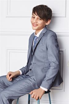 Blue Chambray Suit: Jacket (12mths-16yrs)