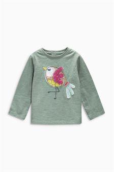 Khaki Bird T-Shirt (3mths-6yrs)