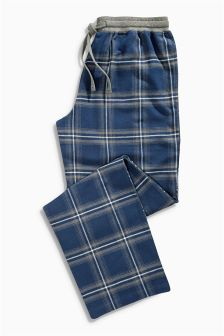 Blue Check Woven Bottoms