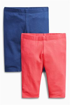 Red/Navy Leggings Two Pack (0mths-2yrs)