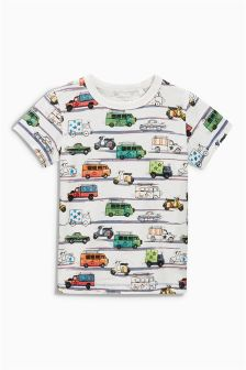 Multi Car Print T-Shirt (3mths-6yrs)