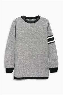 Black & White Sporty Crew Neck Top (3-16yrs)