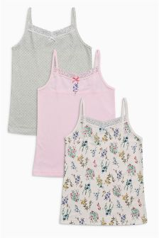 Pink/Blue Keepsake Camis Three Pack (3-16yrs)