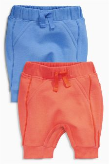 Blue/Orange Joggers Two Pack (0mths-2yrs)