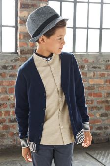 Navy Cardigan (3-16yrs)