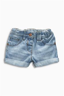 Mid Blue Denim Shorts (3mths-6yrs)