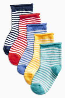 Multi Bright Socks Five pack (Younger Boys)
