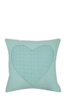 Cotton Embroidered Heart Cushion