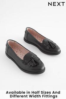 Black Tassel Loafers (Older Girls)