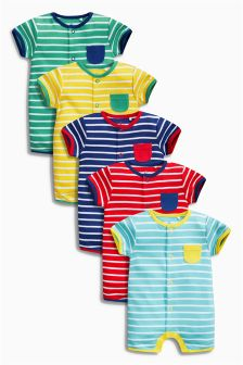 Bright Rompers Five Pack (0mths-2yrs)