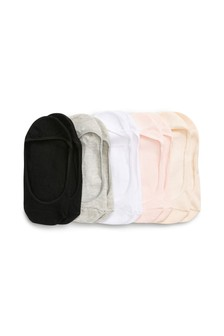 Black And Neutrals Cotton Mix Footsies Five Pack